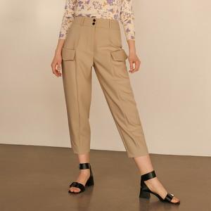 Brązowe spodnie Reserved w militarnym stylu