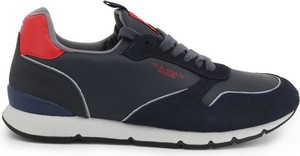 Czarne buty sportowe U.S. Polo ze skóry w sportowym stylu sznurowane