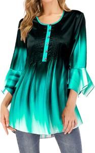 Zielona bluzka Cikelly w stylu casual