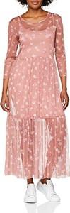 Różowa sukienka amazon.de maxi