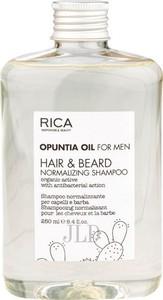 RICA Opuntia Oil For Men nawilżający szampon do włosów i zarostu 250 ml