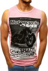 Różowa koszulka Dstreet z tkaniny w młodzieżowym stylu