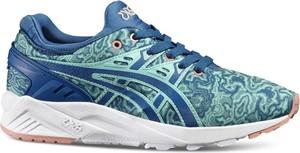 Niebieskie buty sportowe ASICS z płaską podeszwą