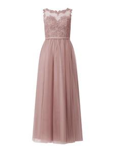 Różowa sukienka Mascara bez rękawów maxi