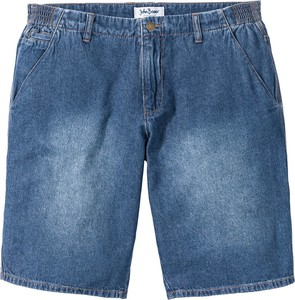 Bonprix john baner jeanswear bermudy dżinsowe loose fit z elastycznymi wstawkami po bokach w talii