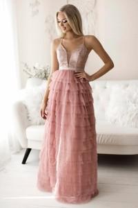Różowa sukienka Yournewstyle maxi