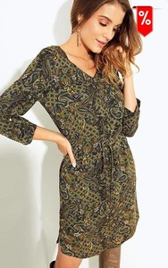 Sukienka Kaskada w stylu casual mini z długim rękawem