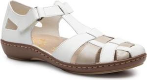 Sandały Rieker w stylu casual na niskim obcasie