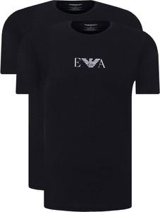 T-shirt Emporio Armani z dzianiny z nadrukiem