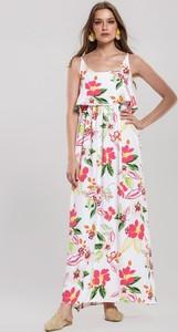 Sukienka Renee na ramiączkach w stylu boho z okrągłym dekoltem