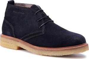 Granatowe buty zimowe Marc O'Polo sznurowane