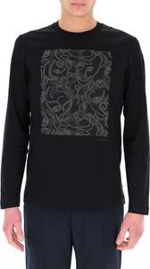 Czarny sweter Hugo Boss z okrągłym dekoltem w młodzieżowym stylu