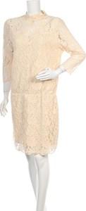 Sukienka Gestuz z okrągłym dekoltem z długim rękawem