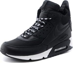 Czarne buty sportowe Nike sznurowane air max 90