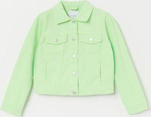 Zielona kurtka dziecięca Reserved z bawełny