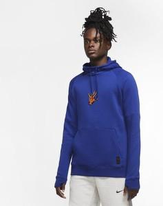 Niebieska bluza Nike z bawełny w młodzieżowym stylu
