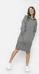 Sukienka Freeshion oversize mini z długim rękawem