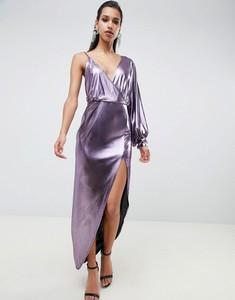 Fioletowa sukienka Asos Design z dekoltem w kształcie litery v