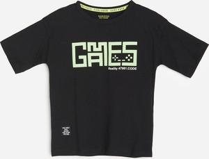 Czarna koszulka dziecięca Reserved z bawełny dla chłopców