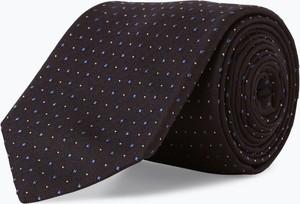 Czarny krawat Boss z jedwabiu