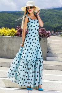 Niebieska sukienka Ivet.pl w stylu boho