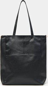 Czarna torebka Sinsay na ramię ze skóry matowa