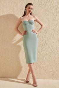 Zielona sukienka Trendyol prosta bez rękawów
