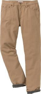 Brązowe spodnie bonprix John Baner JEANSWEAR w stylu casual