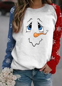 Bluza Sandbella w bożonarodzeniowy wzór w młodzieżowym stylu