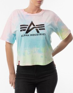 T-shirt Alpha Industries z bawełny z okrągłym dekoltem z krótkim rękawem