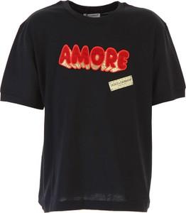 Czarna koszulka dziecięca Dolce & Gabbana