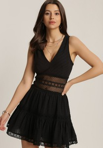 Czarna sukienka Renee trapezowa mini