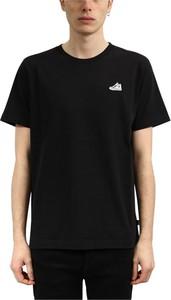 Czarny t-shirt Converse z bawełny z krótkim rękawem w stylu casual