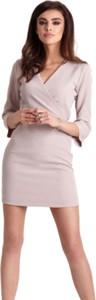 Sukienka Ivon mini z długim rękawem
