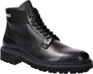 Buty zimowe Emporio Armani ze skóry sznurowane