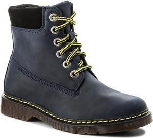 Szare buty dziecięce zimowe kornecki ze skóry