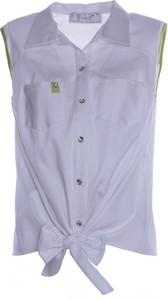 Niebieska bluzka Fokus bez rękawów