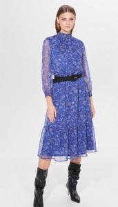 Sukienka Mohito z długim rękawem z szyfonu w stylu casual