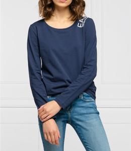 Niebieska bluzka Emporio Armani z bawełny