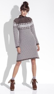 Sukienka Fobya z żakardu mini w stylu casual