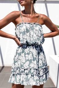 Sukienka IVET mini na ramiączkach z okrągłym dekoltem