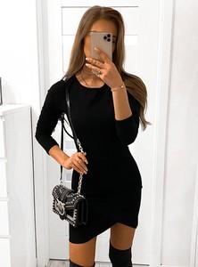 Sukienka Pakuten mini z długim rękawem w stylu casual