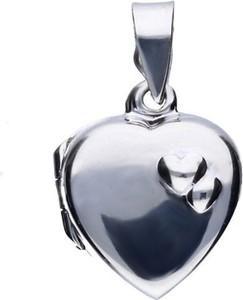 Valerio Delikatny srebrny otwierany wisiorek puzderko sekretnik gładkie serce srebro 925 ALP008