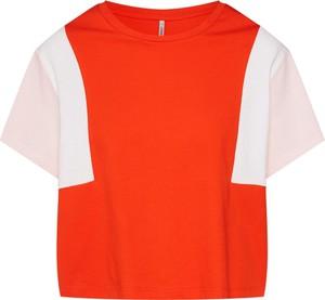 Czerwona bluzka Only z dżerseju