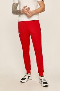 Czerwone spodnie Ellesse z bawełny