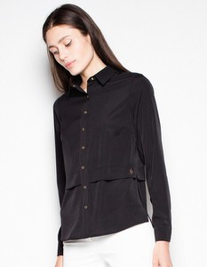 Czarna koszula Venaton w stylu casual