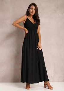 Czarna sukienka Renee maxi trapezowa