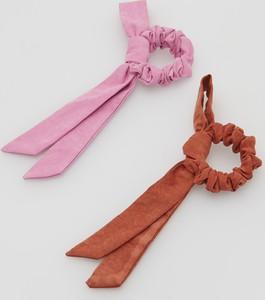Reserved - Zestaw gumek do włosów ze wstążką 2 pack - Wielobarwny