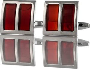 Em Men`s Accessories Spinki do mankietów kwadratowe czerwone EM 61