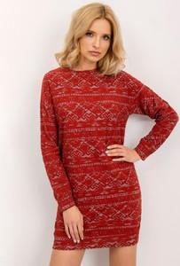 Sukienka Sheandher.pl w stylu casual z okrągłym dekoltem mini